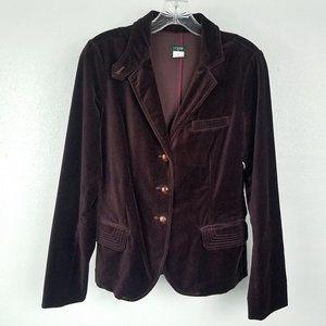 J. Crew Women's Dark Purple Coat Jacket Blazer